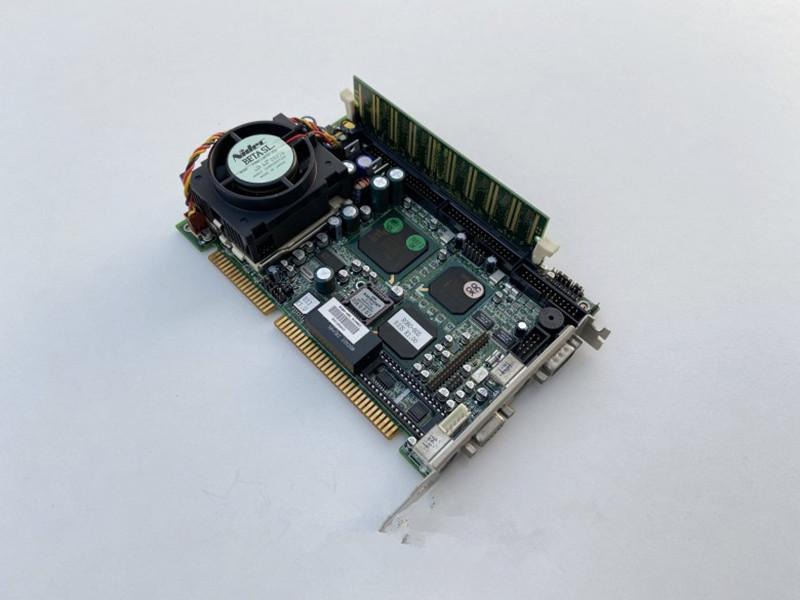 100%OK Original ROBO-605 IPC Board ISA Slot Industrial motherboard Half-Size CPU Card PICMG1.0 With CPU RAM
