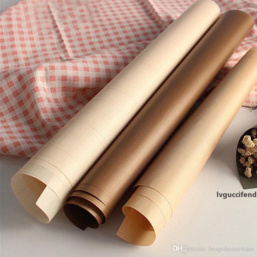 Horno de cocción de papel Aceite 40x60cm 10pcs / set de repostería para hornear oilpaper Mat Oilcloth antiadherente resistente a altas temperaturas para hornear oilpaper BH0579 TQQ