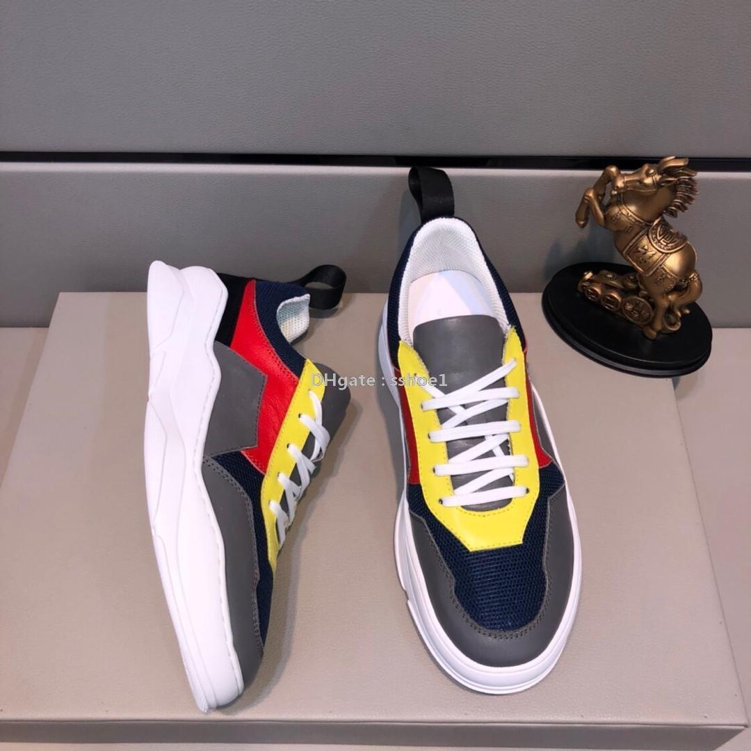 2019q los zapatos de los hombres limitados edición con suela gruesa, zapatos deportivos tendencia de igualación de color, zapatos bajo-top de moda, embalaje original de la caja: 38-44