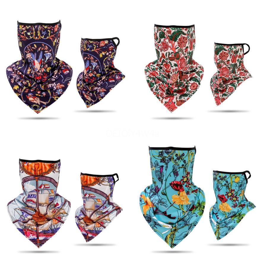 Las máscaras faciales ZbnMG mantón de la bufanda de cuello Impreso Anti máscara de la máscara de la sombrilla ultravioleta del diseñador de Protección Solar Máscaras aire libre que monta protector bufanda máscara # 8 # 729