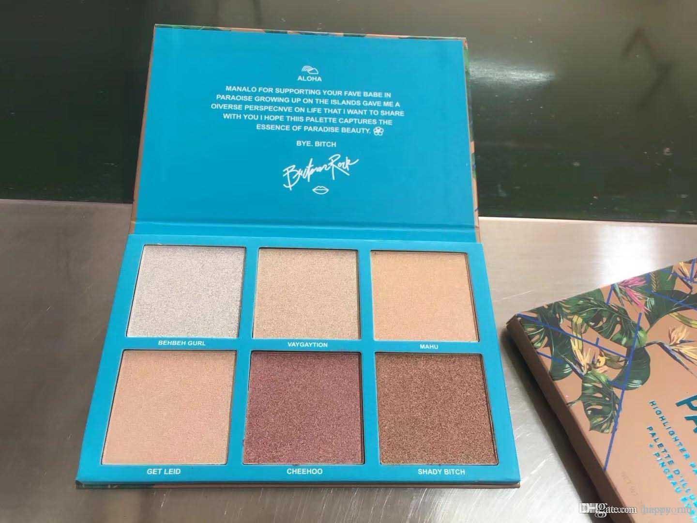 2018 En Yeni Marka makyaj Yüz Vurgulayıcı Palet Babe İÇİNDE Paradise bronzers İşaretleyiciler Yüksek kaliteli kozmetik makyaj DHL nakliye 6colors