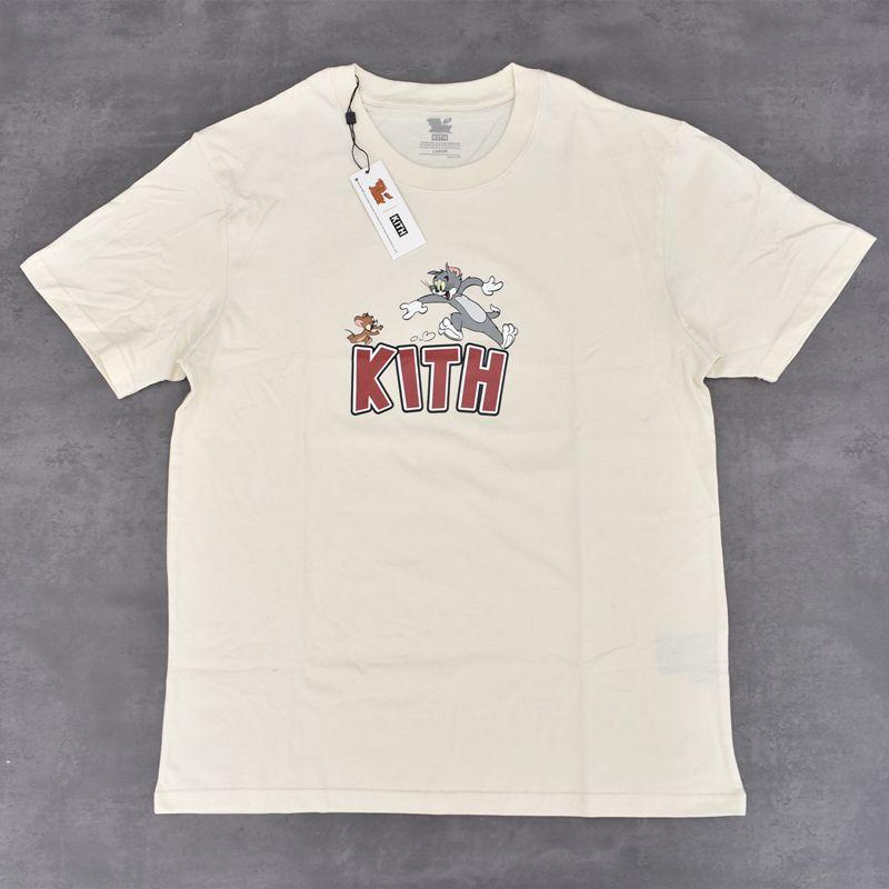 19SS KT X Том Джерри Tee Кошка и мышь мультфильм Printed Мужчины Женщины футболку Простой лето с коротким рукавом Tee