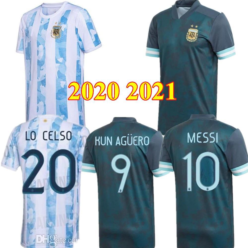 2020 T-shirt 2021 Argentina MESSI DI MARIA HIGUAIN Icardi maglie calcio Dybala calcio 20 21 AGUERO Lautaro Uniformi uomini