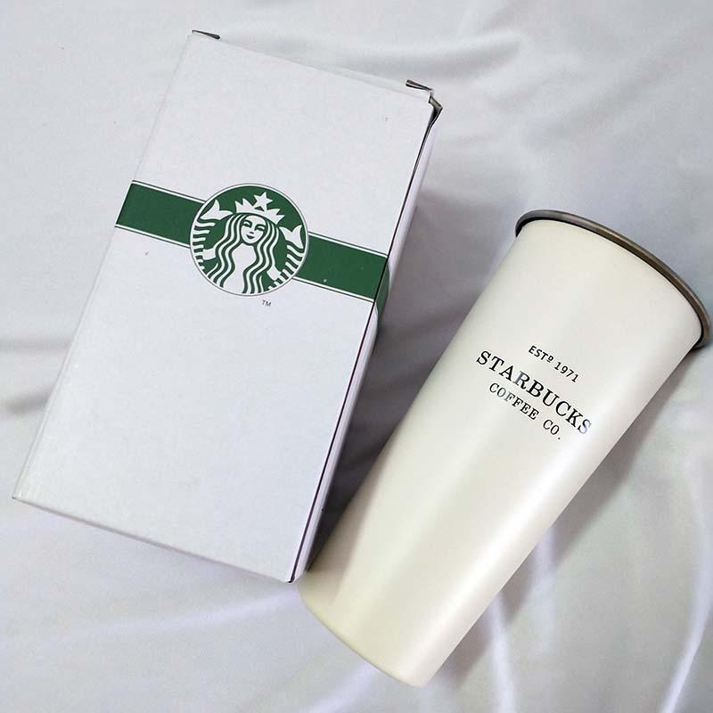 New fashion classic Starbucks stainless steel mug cup mug with lid coffee cup fashion couple sippy cup