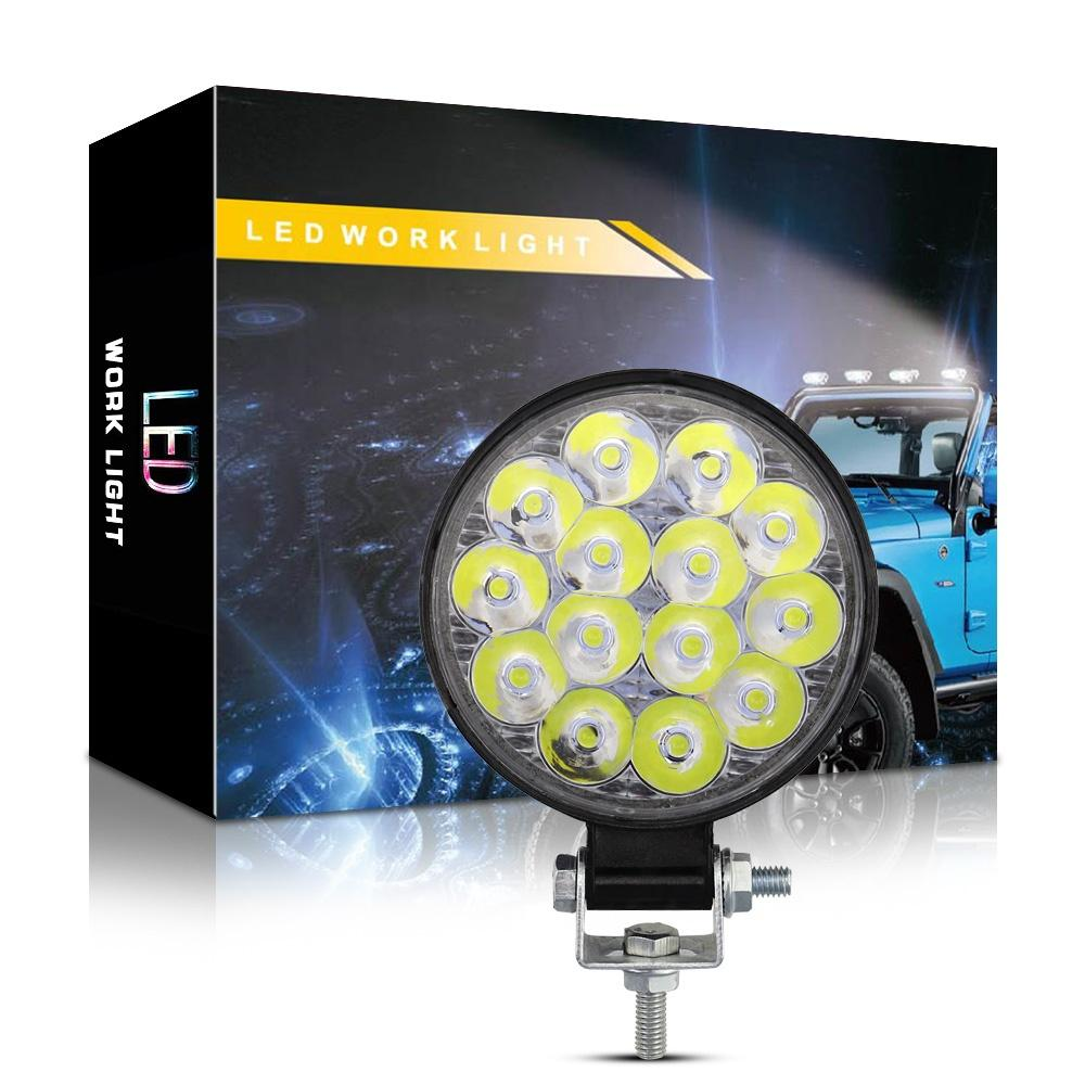 WINSUN للدراجات النارية الضوء 42W 6000K 4200LM التعميم للماء LED ضوء العمل على الطرق الوعرة سيارات الدفع الرباعي / قارب / 4X4 جيب / شاحنة