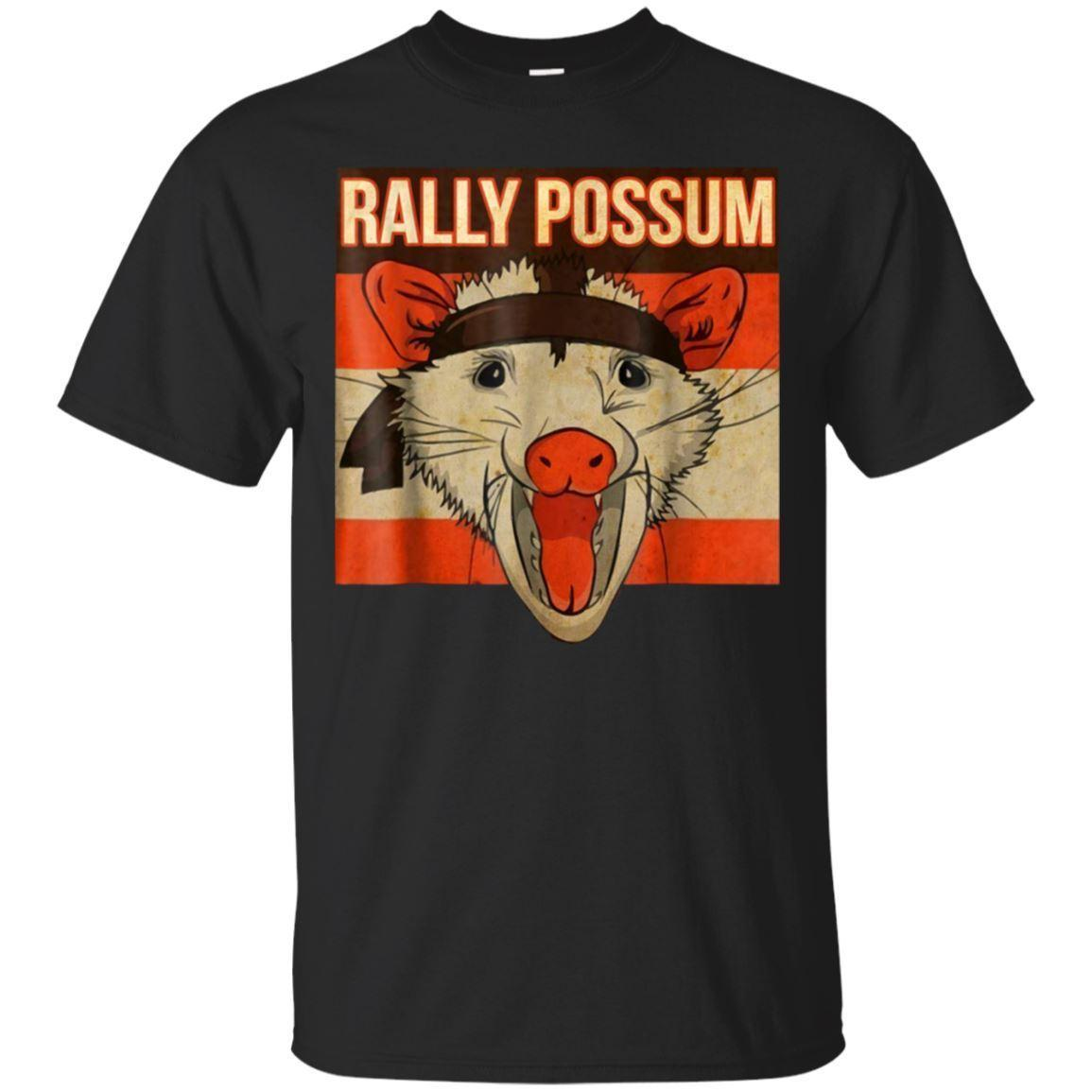 Rally Possum - Funny Short Sleeve Black T-Shirt Size Cartoon t shirt men Unisex New Fashion tshirt free shipping funny tops