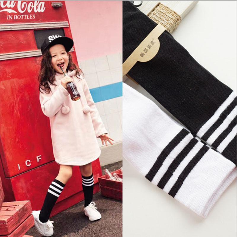 calcetines de las niñas con arcos de invierno del otoño del resorte niños del algodón calcetines respirables sólido bebés Escuela de rodilla