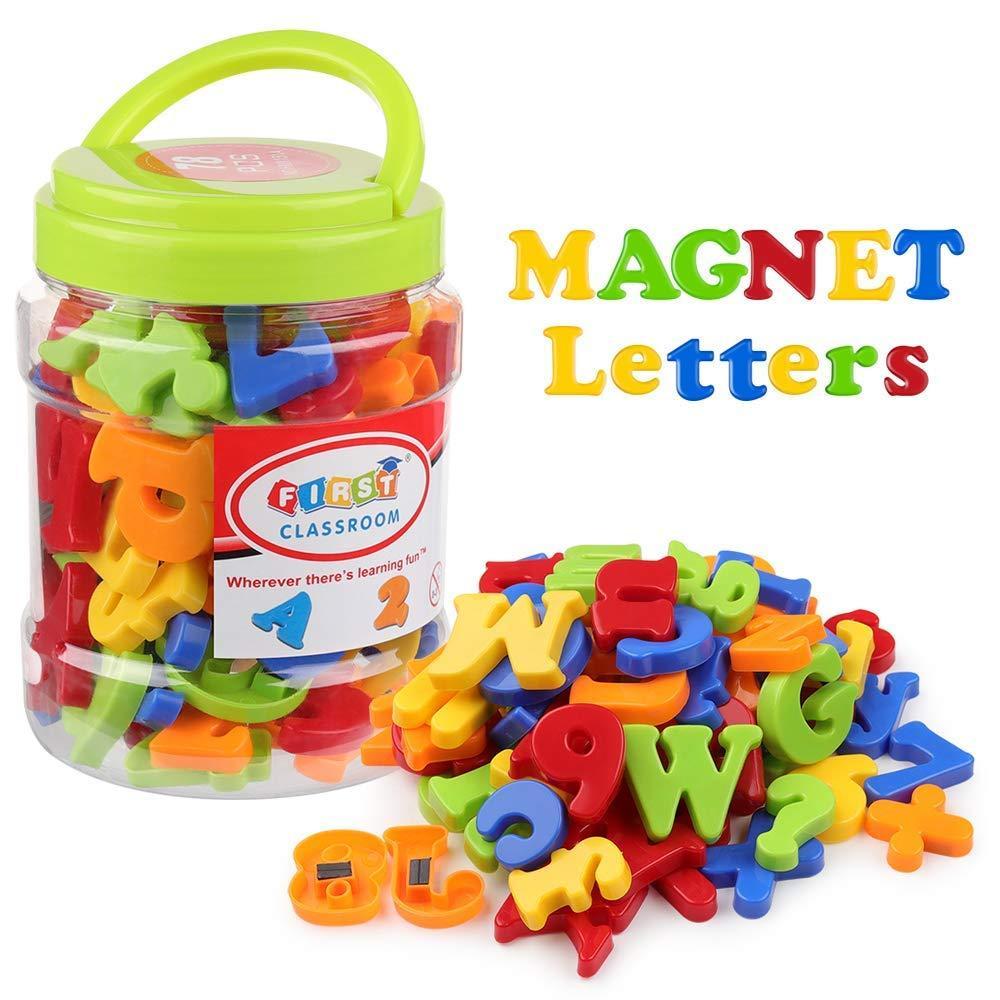 78pcs магнитные буквы номера алфавит холодильник магниты Красочные пластиковые образования Игрушка Набор Дошкольное обучение орфографии Counting