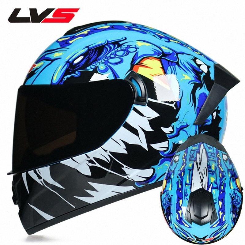 LVS Motocross Casco Offroad Motorcycle Full Face Elmets Professionale ATV DH Corse Casco Dirt Bike Capacete Moto Casco APFJ #