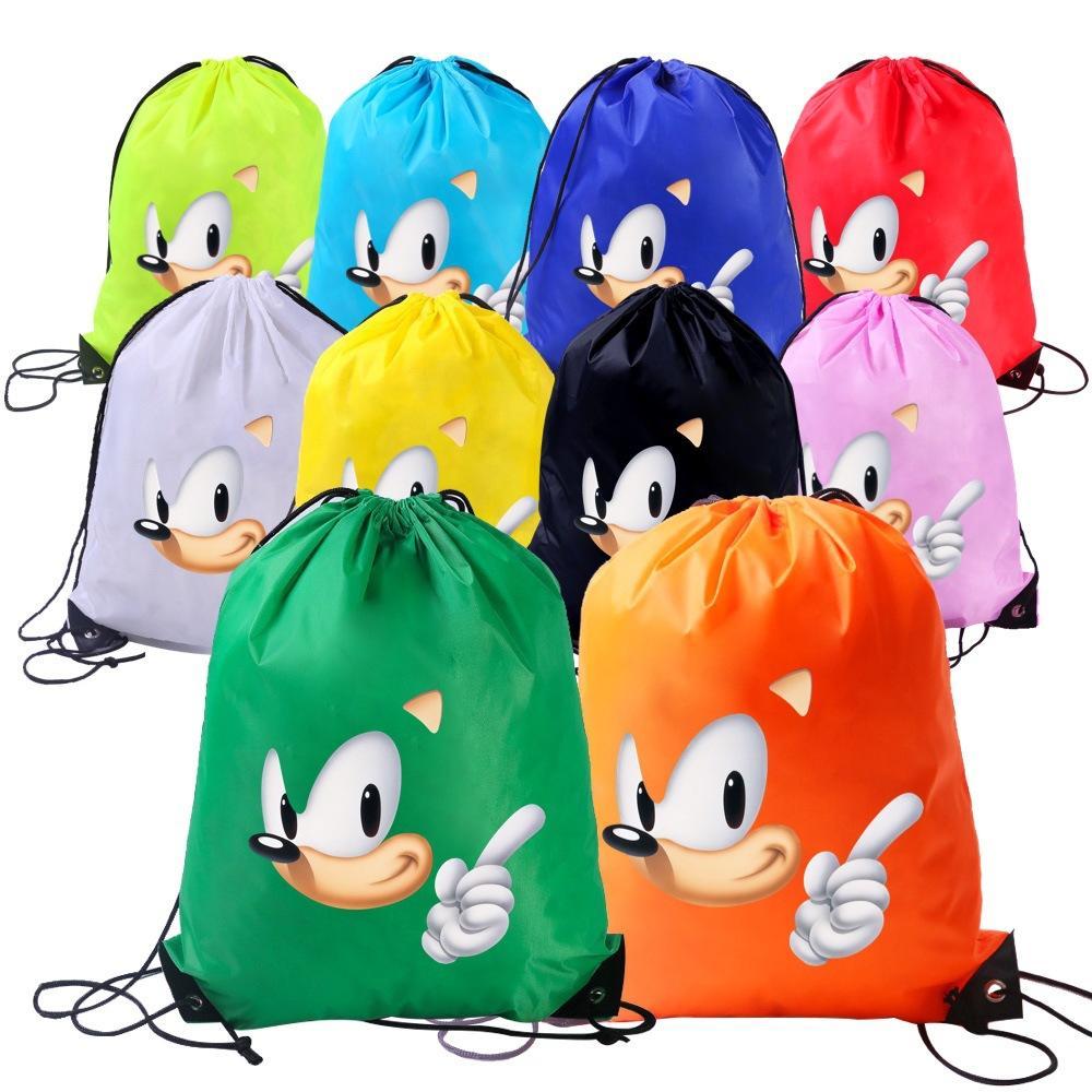 10 цветов Дети Модный шнурок мешок водонепроницаемый шнурком отдыха мешок Шаровые спортивная сумка рюкзак Event BAO720