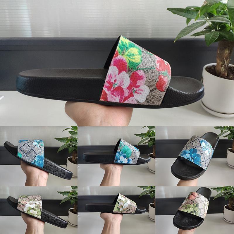 플랫폼 와이드 플랫 미끄러운 두꺼운 슬리퍼 플립 퍼 2020 최고 품질 여름 패션 꽃 남성 여성 슬라이드 샌들 디자이너 캐주얼 럭셔리