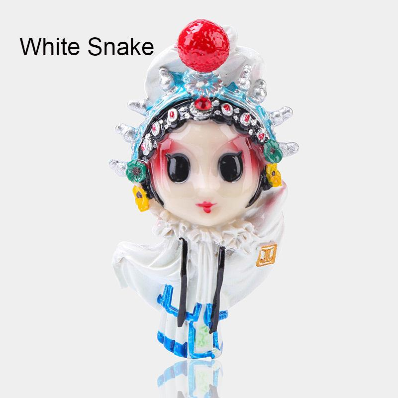 Chinese Style Series Three Peking Opera Characters Fridge Magnets Cute Modeling Featured Handmade Crafts Legendary Love Story