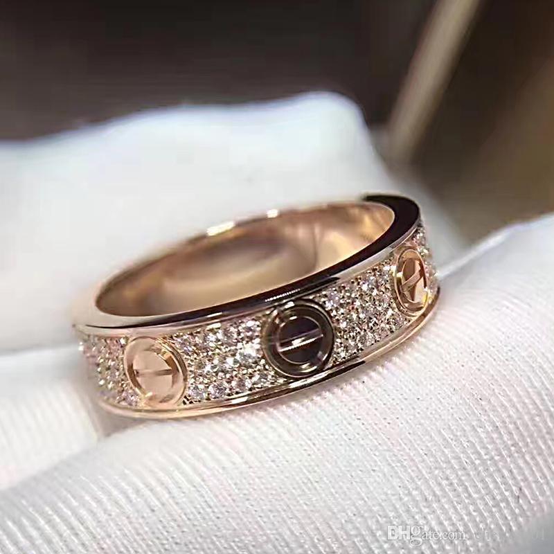 intero anello eterna saleTitanium acciaio gioielleria amore di modo caldo per le donne unisex Anello Anelli di nozze Classic Gradient Gioielli 6 7 8 9