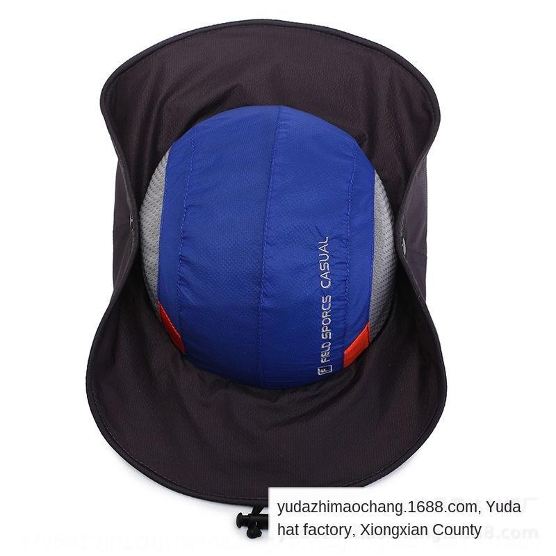 2019 Herren-Frühling und Sommer neuer Outdoor-Berg UV-beständig atmungs großer Traufe Sonnenschutz Hut Sonnenschutz Hut