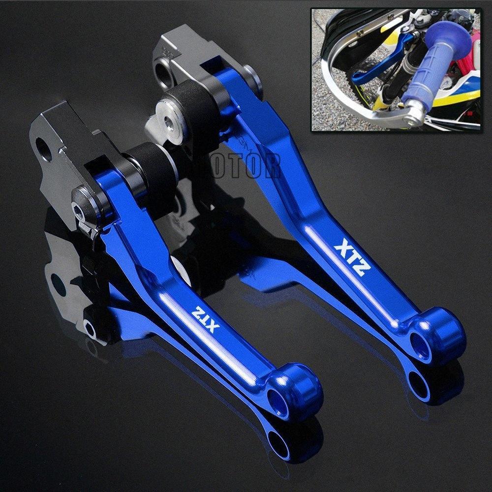 XTZ250 2006-2015 XTZ 250 CNC Debriyaj Fren Pivot Kolları Motosiklet Dirt Pit Bisiklet Katlanabilir Sap Levrek Motokros Kol cBN7 # için