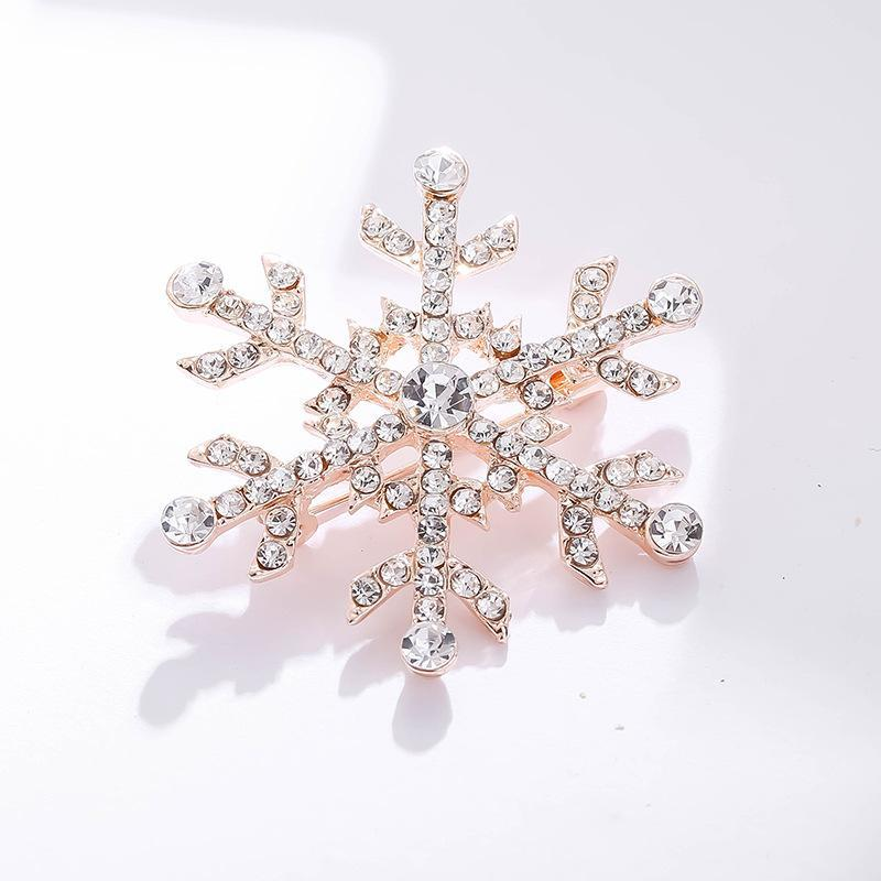 Lady Fashion Rhinestones alloy Brooch Large Snowflake Pins Wedding Party Jewelry Women Gift