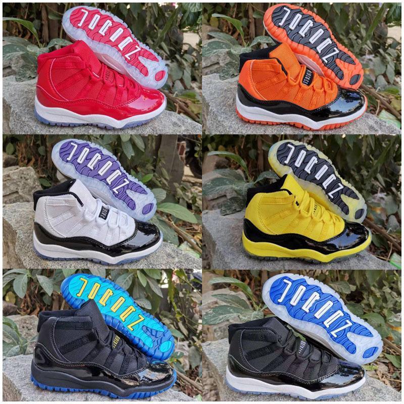 Bebek Çocuk 11 11'leri Ayakkabı Bred Concord Uzay Pembe Gym Kırmızı Mavi 11 Ayakkabı Sneakers Hediye İçin Boys