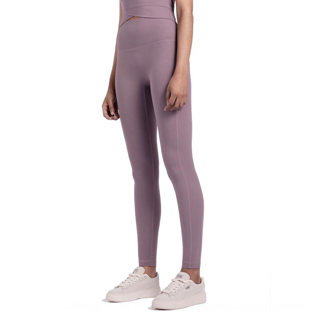 2020 newsports aptidão stretch calças de yoga das mulheres não-constrangedor cintura linha de alta quadril levantamento calças de ioga nu