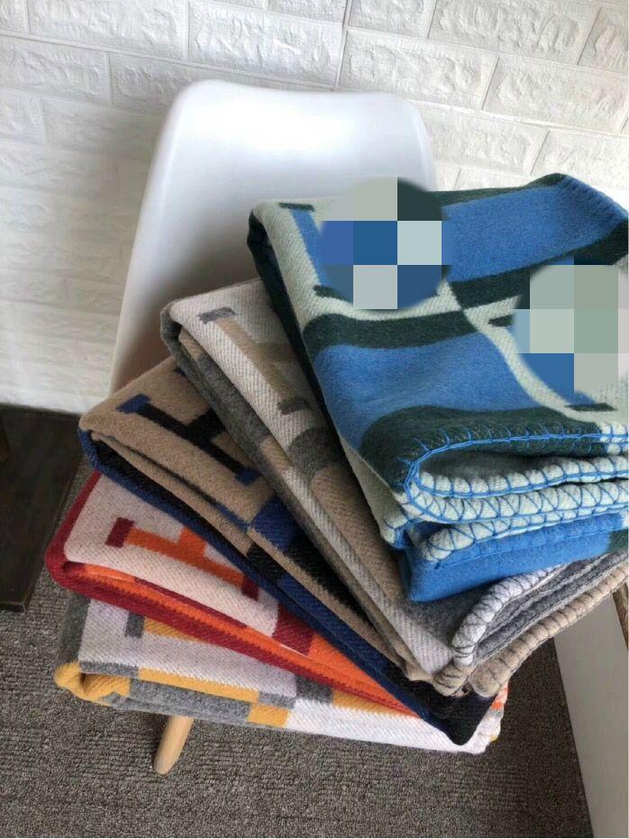 FRESCO saco de pó Tem Carta Grey H 90% lã Blanket Início Sofá-cama Big Size 140 * 180 centímetros boa quailty marca L blanke