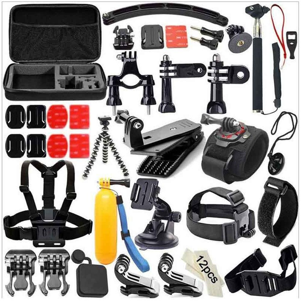 GloryStar 49-in-1 Accessories Kit for GoPro Hero3+ 3 2 1 for Xiaomi SJCAM Skiing Cycle Hiking Outdoor Sport Camera Accessories