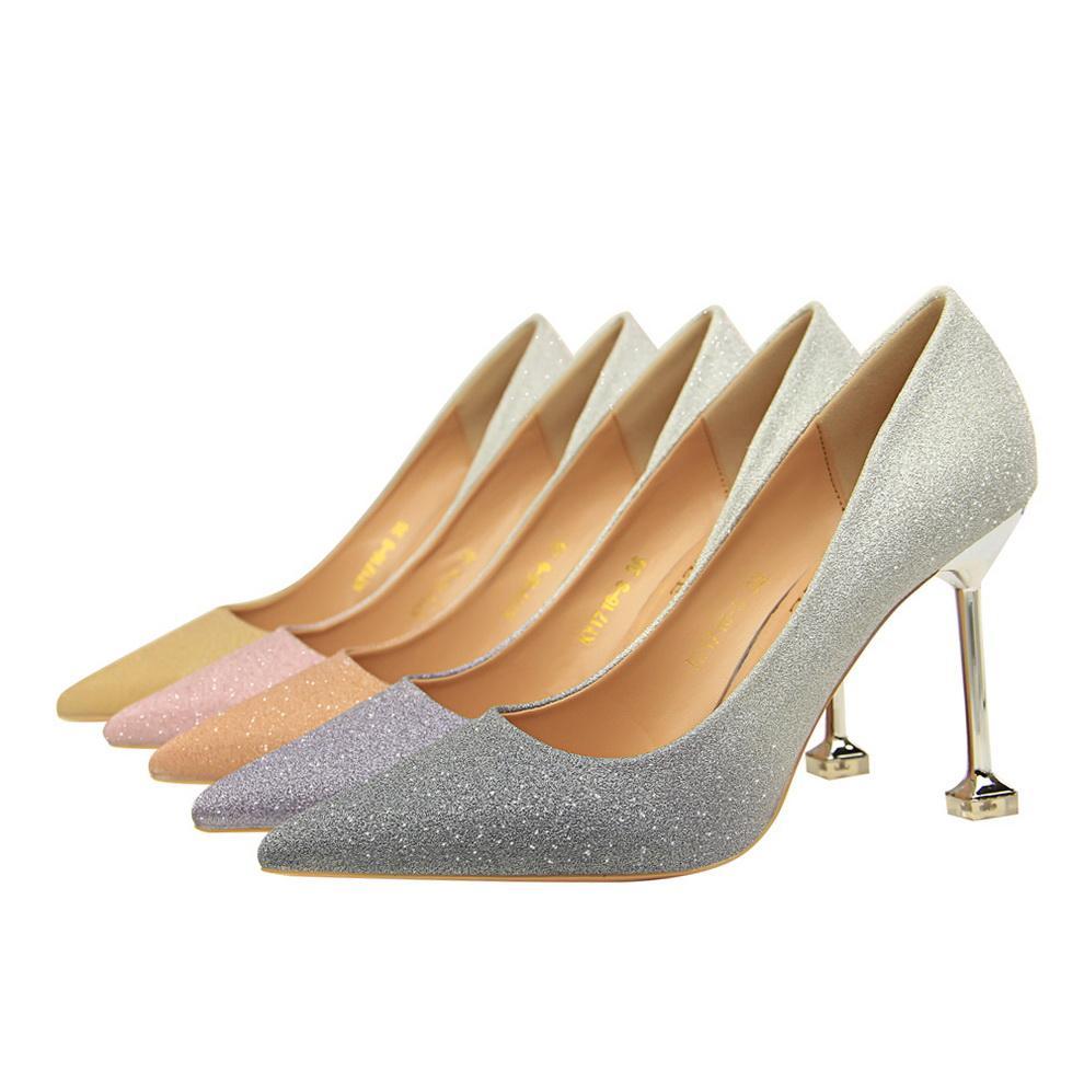 Single Shoes Black Elegant High Heels