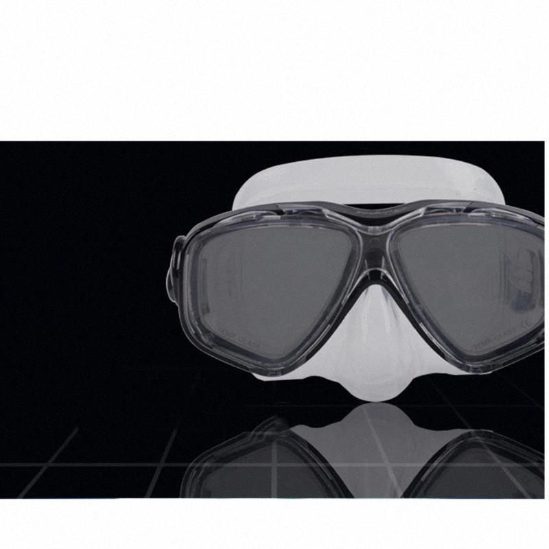 Immersioni in silicone Maschera Lente in vetro temprato Wide View per immersioni subacquee, snorkeling, apnea, nuoto - blu, nero, giallo, rosa TvvX #