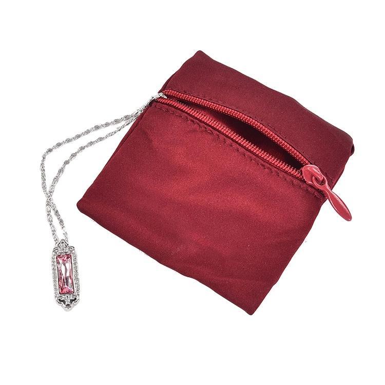 المربعة الصغيرة قلادة حلقة كيس خمر مجوهرات كيس هدية المخملية مع شعار