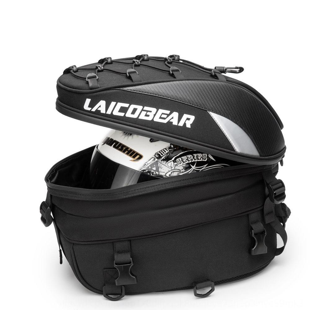 Motorcycle rear seat seat Motorcycle travel helmet rear bag backpack Knight large capacity luggage waterproof travel bag