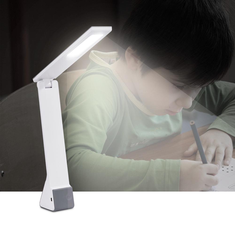 Modern LED Desk Luz Regulável Toque Lamp Livro de carregamento USB Light Reading Student Bedroom Desk Lamp cabeceira Lâmpada portátil Folding