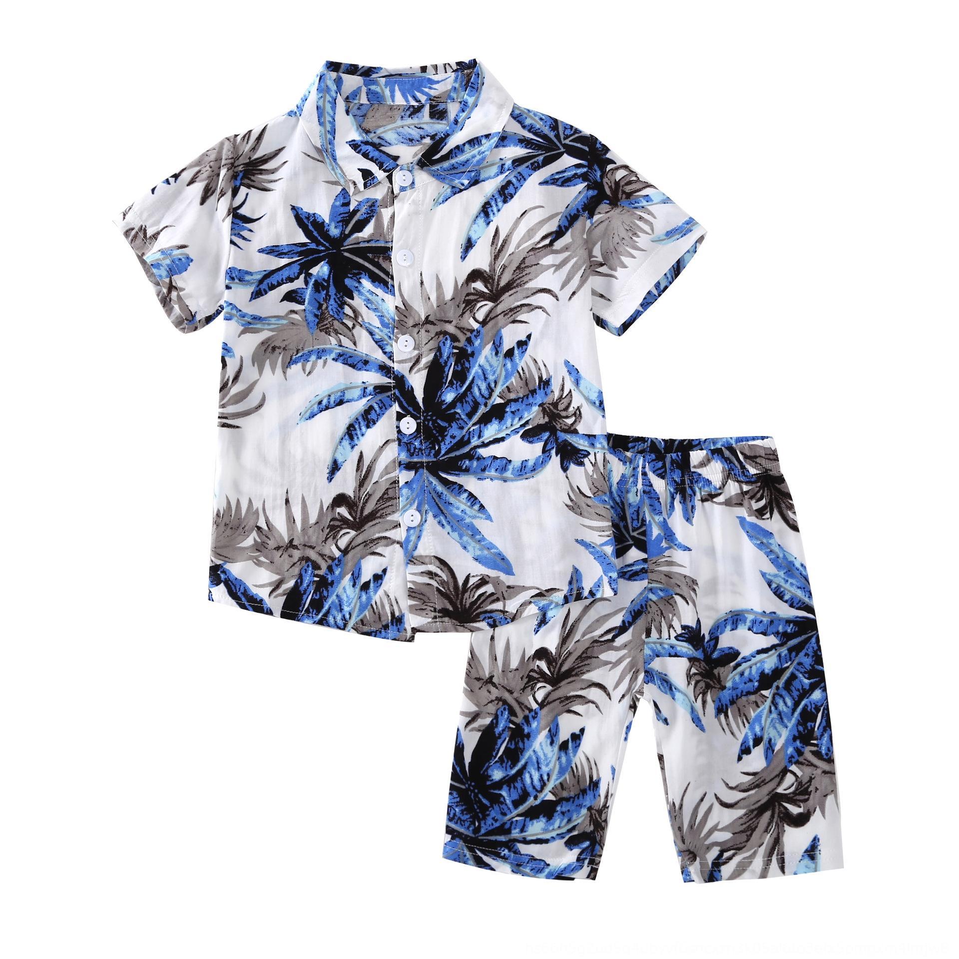 Hot-Verkauf Hemd Kinder kurze Hose keucht Kinderanzug 2020 Sommer neue Kurzarm-Shirt + Kurzschlussklage