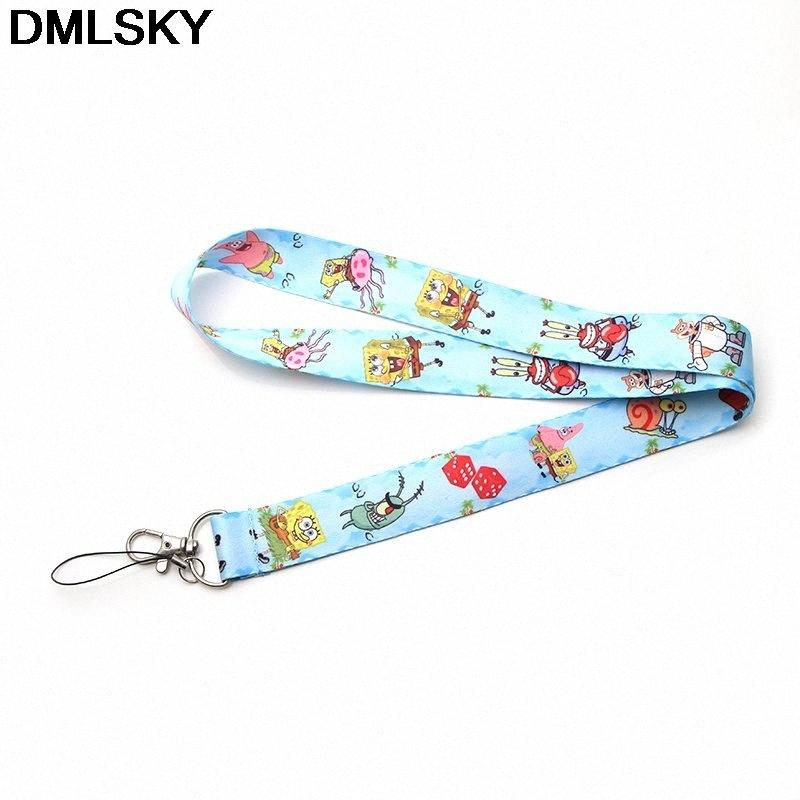 DMLSKY Kawaii Мультфильмы Дети Lanyard Телефон Rope Брелки телефон талреп для ключей ID карты Шнурки для мужчин Женщины M3286 SdHo #