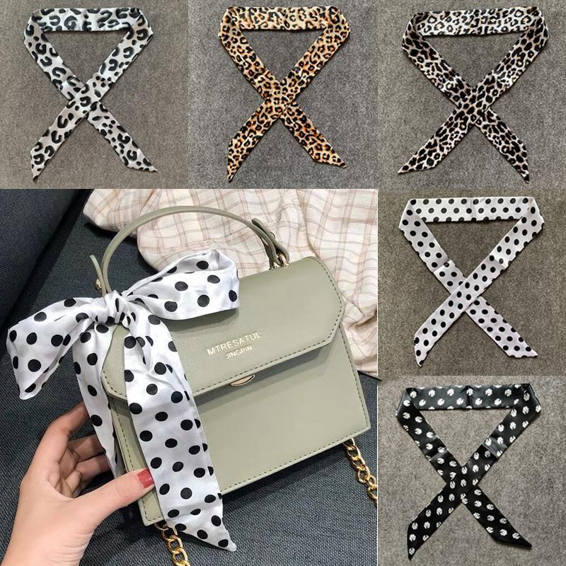 Colorful Scarf Multifunction Hand Bag Handle Neck Scarves Women Female Small Imitation Silk Ribbon Neckerchief Waistband Scarves & Wraps