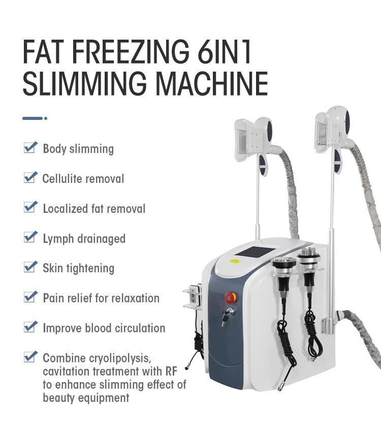 Fabrikpreiskühlung 2 Griffe Kryo Lipolyse Cryolipolyse Maschine Fettfrost Kryolipolyse Ausrüstung für den Salon Gebrauch
