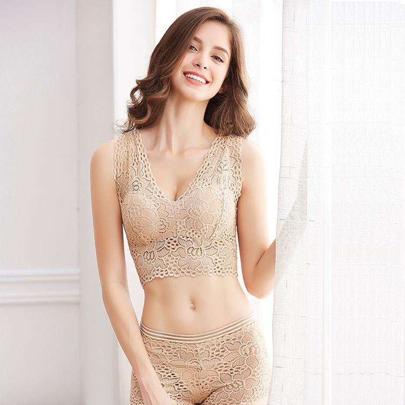 Women Sexy Bra Set Quality Lace Lingerie Push Up Bra and Panty Sets Breathable Underwear Transparent Plus Size Lenceria Feminin