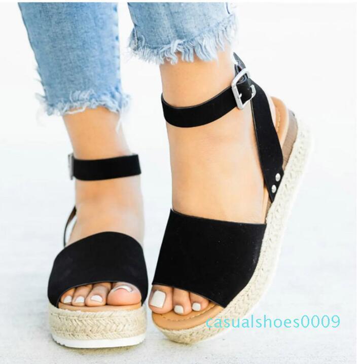 Escarpin Sandales Chaussures d'été 2019 nouvelle vente chaude Chaussures Femme sandale de plage Sandales plateforme C09