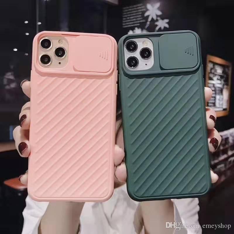 телефон случае для Apple iPhone 11 Pro X XR XS Max 6 6s 7 8 Plus защитные линзы скольжения телефон силиконовый чехол мягкая оболочка крышки случая