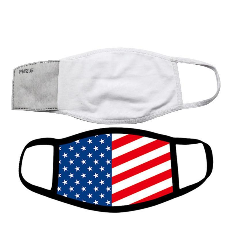 Filtre Pocket ile Boşluklar Sublime Yüz Maskesi Yetişkin Çocuk Termal transfer Baskı Ücretsiz Nakliye PM2.5 Conta Toz Önleme koy Can