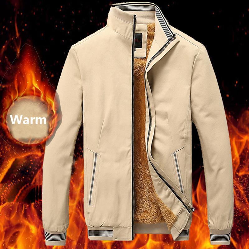 Winter Fleece Jacket Men Pilot Bomberjacke outwear Baseball Hip Hop Street Baumwolle Business-Mäntel Männer Markenkleidung