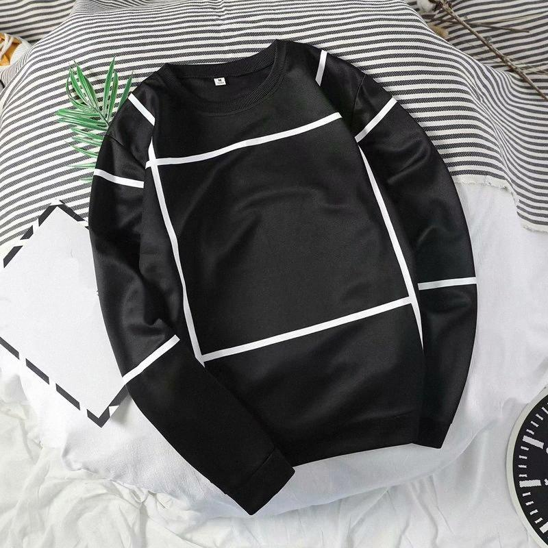 Streetwear Hoodies de luxe pour hommes New Mode manches longues T-shirts Broderie Sweats à capuche Hip Hop O-Neck Sweats à capuche 32Gj #