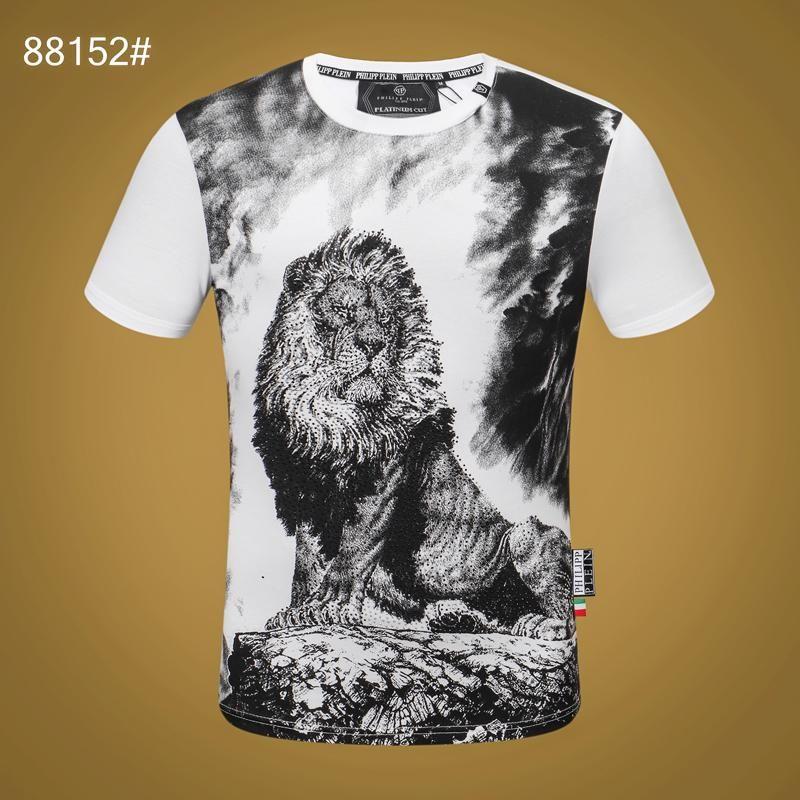 20FW Женщины Mens Дизайнер футболки Luxury Phillip Обычная футболка Summer Homme от MONC белый череп SuperMe Tee Топы толстовка костюмы 09