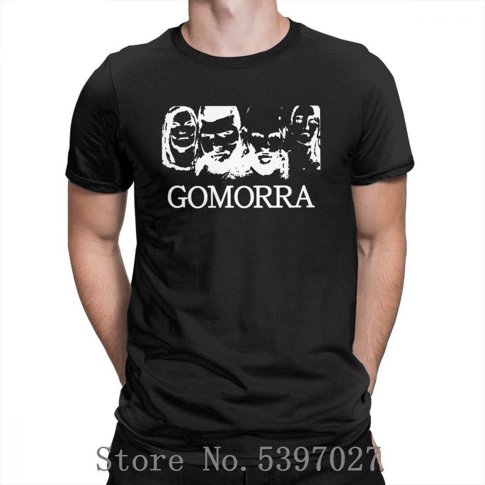 Gomorra camisetas estilo de la vendimia para hombre cuello redondo camisas de algodón más del tamaño Tee Shirts novedad corto verano de la manga simple