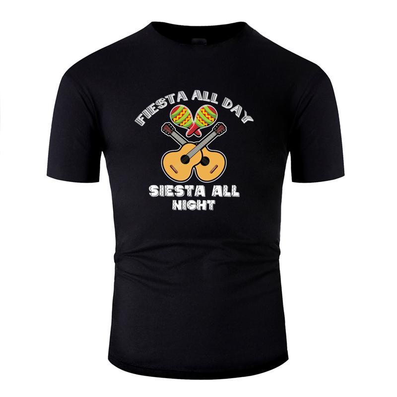 Bütün gece tshirt siesta bütün gün Casual fiesta tasarlama 2020 Vintage erkek tişört Yuvarlak Yaka müthiş büyük boy S ~ 5XL