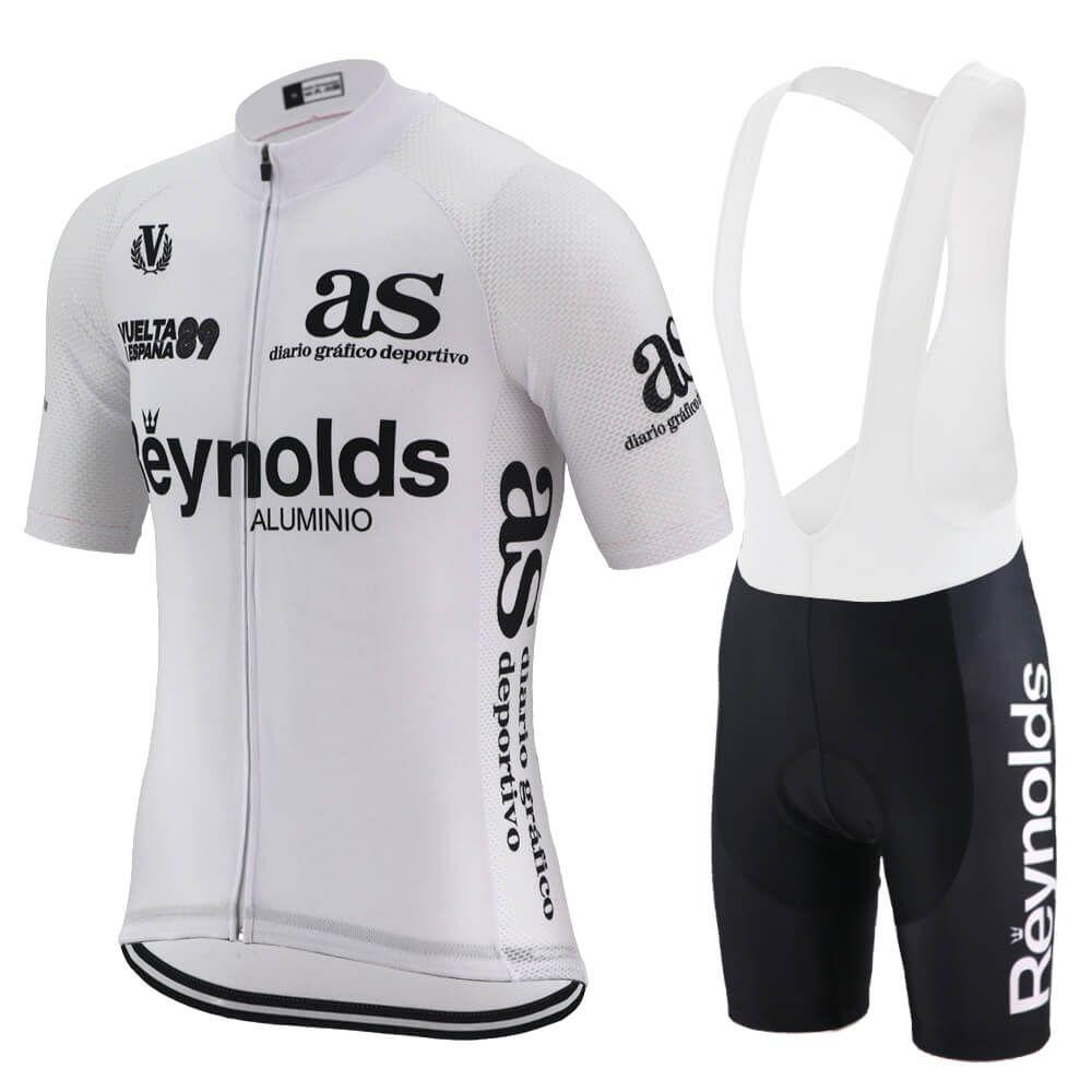 클래식 에스파냐 사이클링 저지 정장 남성 여름 도로 경주 자전거 의류 화이트 자전거 의류 자전거 셔츠 MTB 사이클 저지