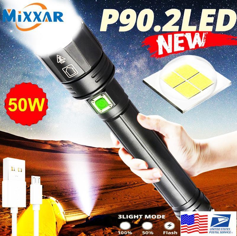 ZK20 dropshipping XHP90.2 LED YENİ USB 26650 Şarj edilebilir XHP70 Taktik Hafif 18650 Su geçirmez Meşalesi