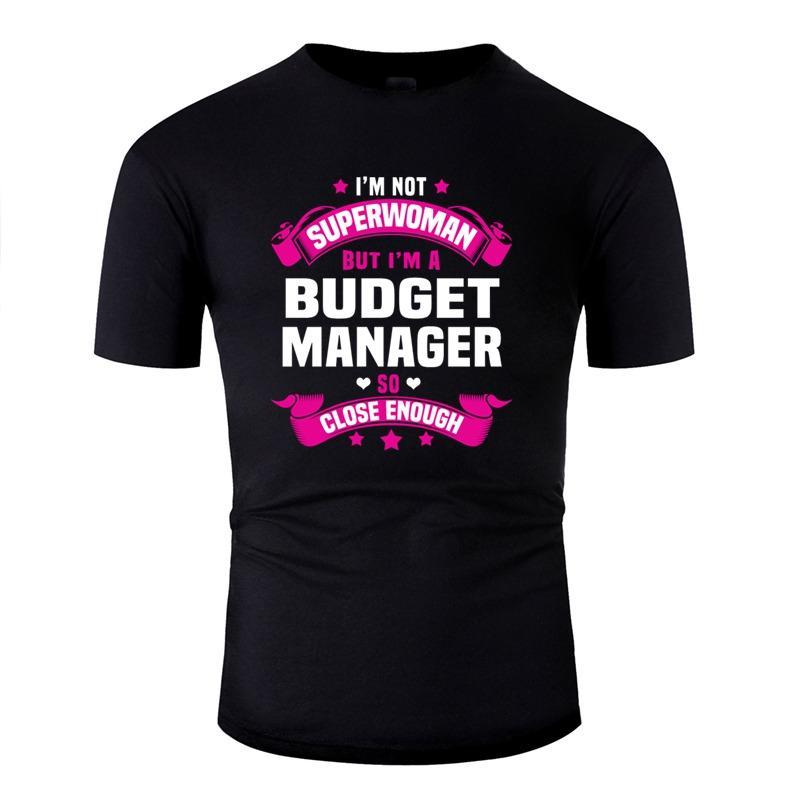 Lo nuevo Gerente de Presupuesto Casual camiseta divertida de la novedad camisetas de algodón o cuello de ropa más el tamaño S-5XL Pop Top de