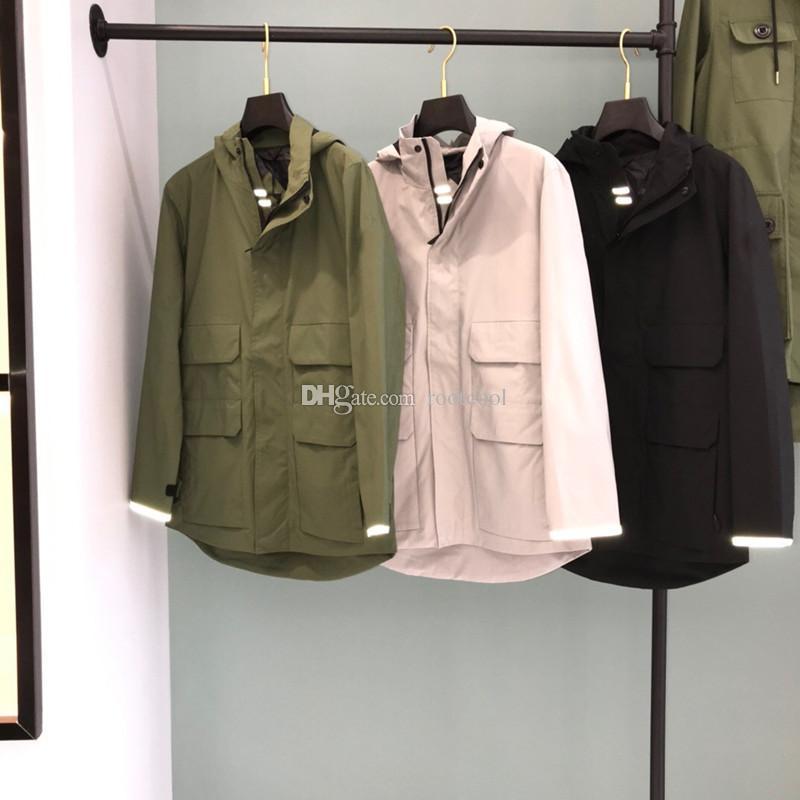 Canada Goose 겨울 겉옷 최고 품질 남성 MEAFORD 레인 3 메터 반사 경량 재킷 블랙 라벨 코트