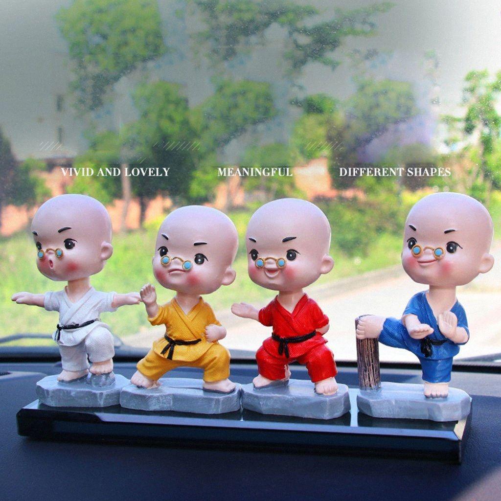 Modello Piccolo Statua Statuetta Crafts Ornamento resina in miniatura Kungfu Piccolo Monk Craft Accessori Family Office decorazione # p4 jTYv #