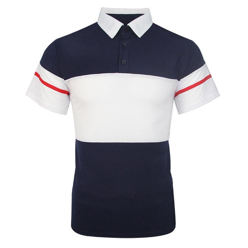 Hommes Polo Hommes Chemise Polo à manches courtes de couleur contrastée Polo Nouveau Vêtements d'été Streetwear Casual tops Mode Hommes