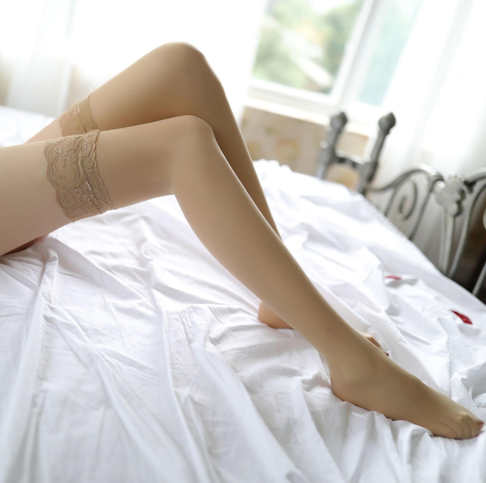 uniforme biancheria intima sexy tentazione sexy calzini trasparenti di zJYEV donne biancheria intima lunga calze di pizzo calze coscia pizzo