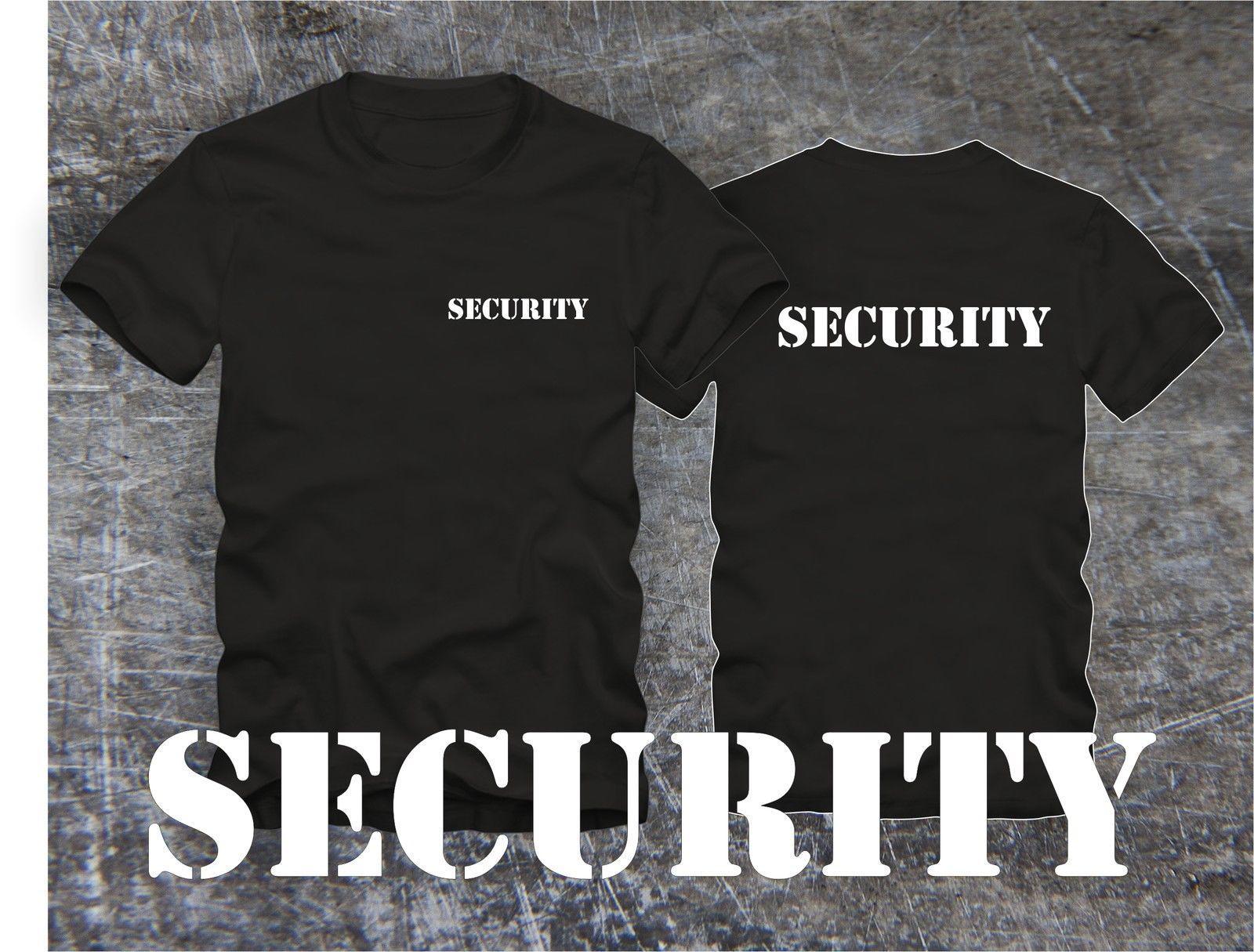 2020 Yaz Modası Erkekler tişört GÜVENLİK Tişört !! Bekleidung Güvenlik Tişört Güvenlik! Elek Schrift